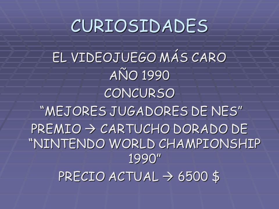 CURIOSIDADES EL VIDEOJUEGO MÁS CARO AÑO 1990 CONCURSO MEJORES JUGADORES DE NES PREMIO CARTUCHO DORADO DE NINTENDO WORLD CHAMPIONSHIP 1990 PRECIO ACTUA