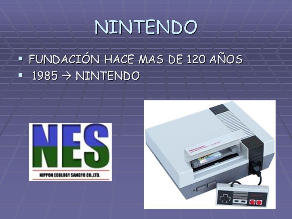 NINTENDO FUNDACIÓN HACE MAS DE 120 AÑOS FUNDACIÓN HACE MAS DE 120 AÑOS 1985 NINTENDO 1985 NINTENDO