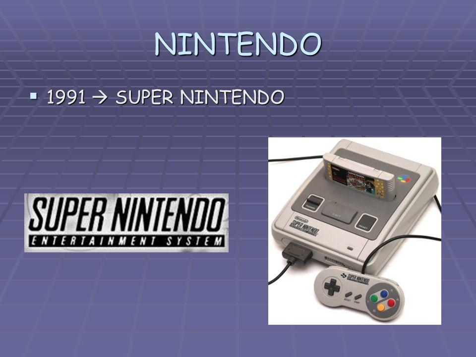 NINTENDO 1991 SUPER NINTENDO 1991 SUPER NINTENDO