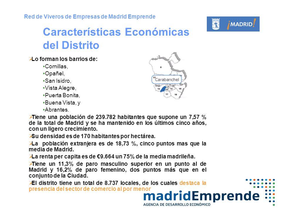 Lo forman los barrios de: Comillas, Opañel, San Isidro, Vista Alegre, Puerta Bonita, Buena Vista, y Abrantes. Tiene una población de 239.782 habitante