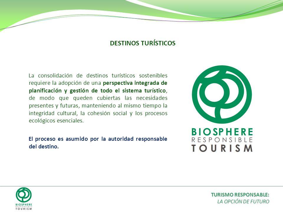 La consolidación de destinos turísticos sostenibles requiere la adopción de una perspectiva integrada de planificación y gestión de todo el sistema tu