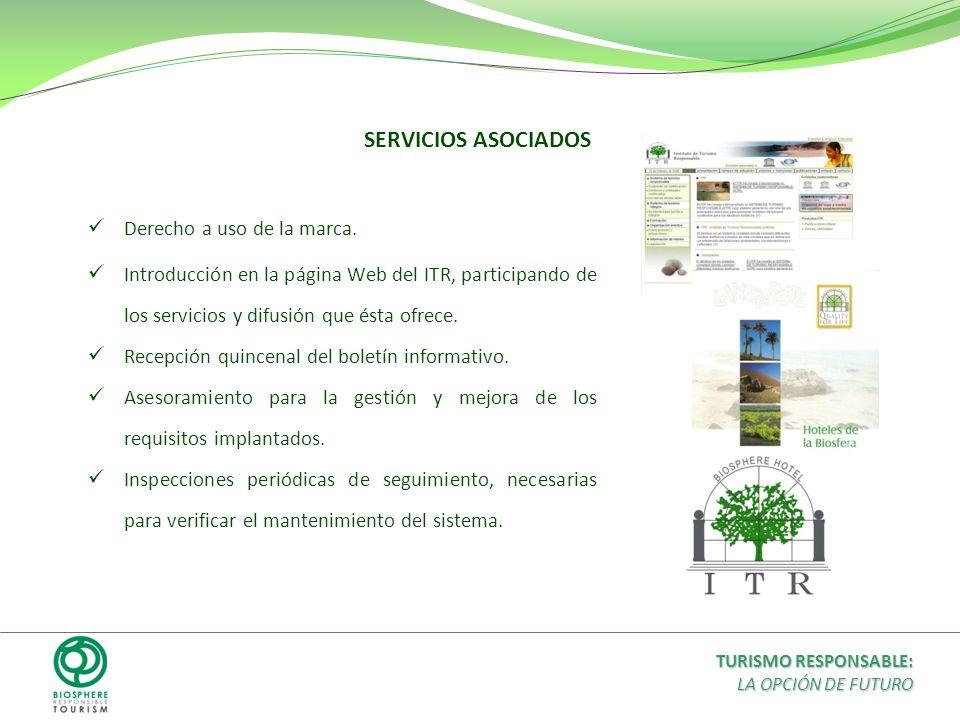 Derecho a uso de la marca. Introducción en la página Web del ITR, participando de los servicios y difusión que ésta ofrece. Recepción quincenal del bo