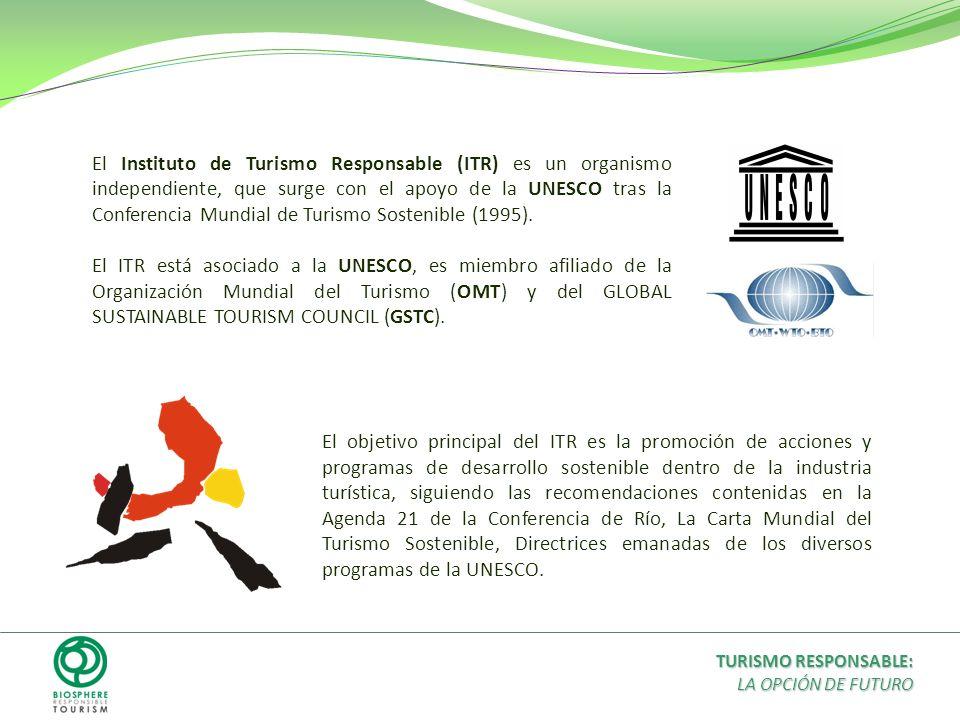 El Instituto de Turismo Responsable (ITR) es un organismo independiente, que surge con el apoyo de la UNESCO tras la Conferencia Mundial de Turismo So