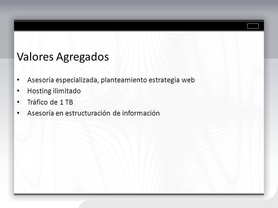 Áreas de Trabajo SOLUCIONES WEB Consultoría en planeación, diseño y desarrollo de sistemas de información y aplicaciones para Internet (portales, comunidades), Intranet y Extranet.