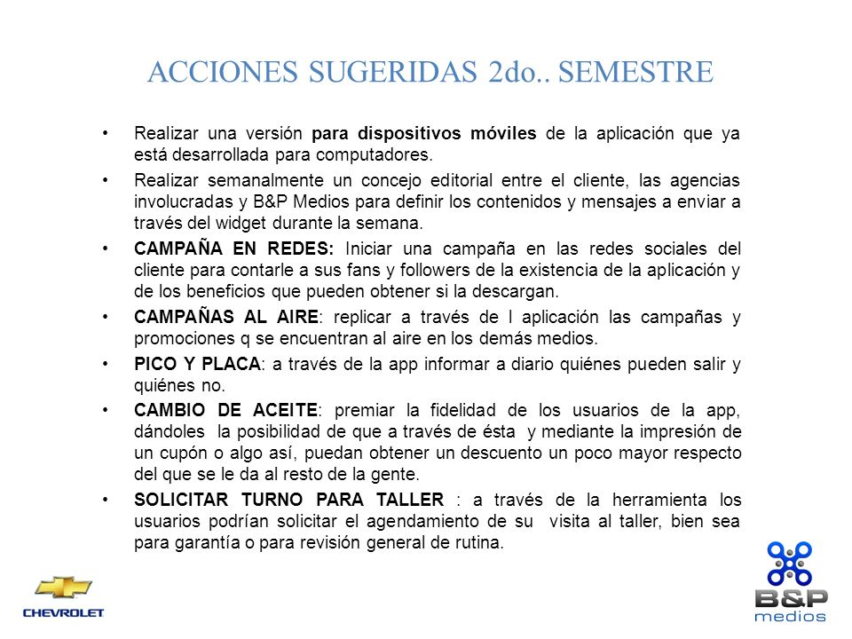ACCIONES SUGERIDAS 2do..