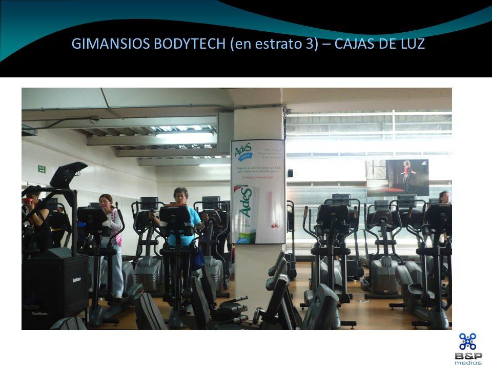 GIMANSIOS BODYTECH (en estrato 3) – CAJAS DE LUZ