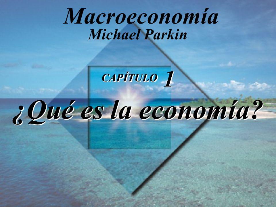 CAPÍTULO 1 ¿Qué es la economía? Michael Parkin Macroeconomía