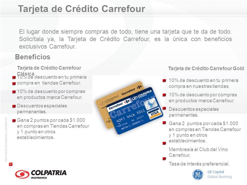 Tarjeta de Crédito Carrefour Beneficios El lugar donde siempre compras de todo, tiene una tarjeta que te da de todo. Solicítala ya, la Tarjeta de Créd