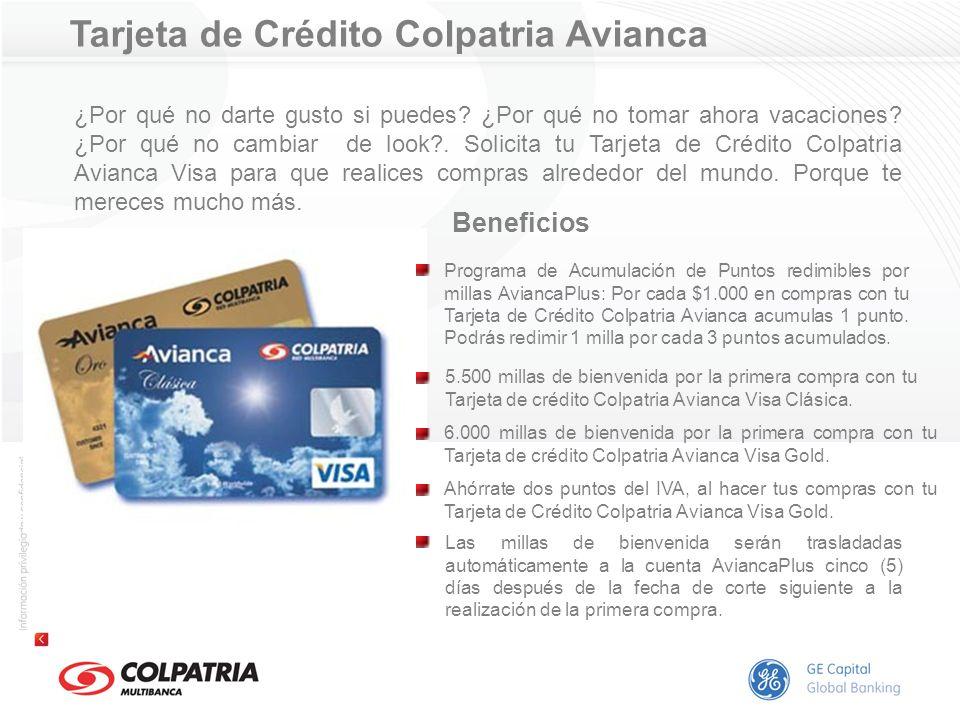 Tarjeta de Crédito Colpatria El Tiempo Si está pensando en tener una tarjeta de crédito, ¿por qué no tener una que además le dé todos los beneficios del Club de Suscriptores de El Tiempo?.