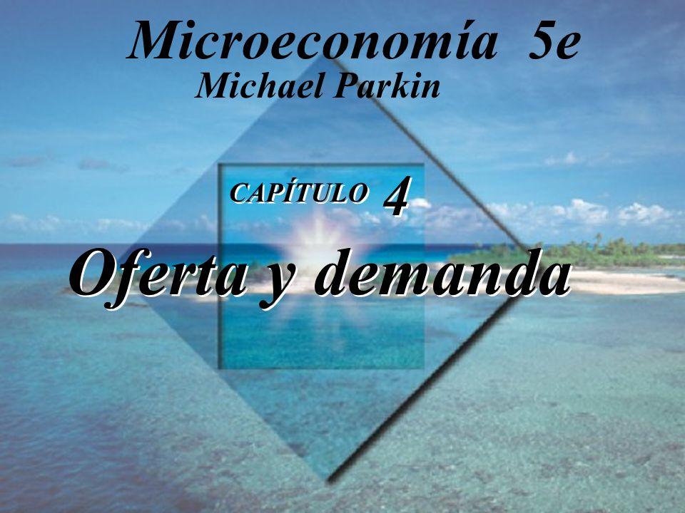 Diapositiva 4-52 Copyright © 1998 Pearson Educación Equilibrio de mercado Cantidad Cantidad Faltante (–) Precio demandada ofrecida o excedente (+) ($ por cinta) (millones de cintas a la semana) 1 9 0 2 6 3 3 4 4 4 3 5 5 2 6