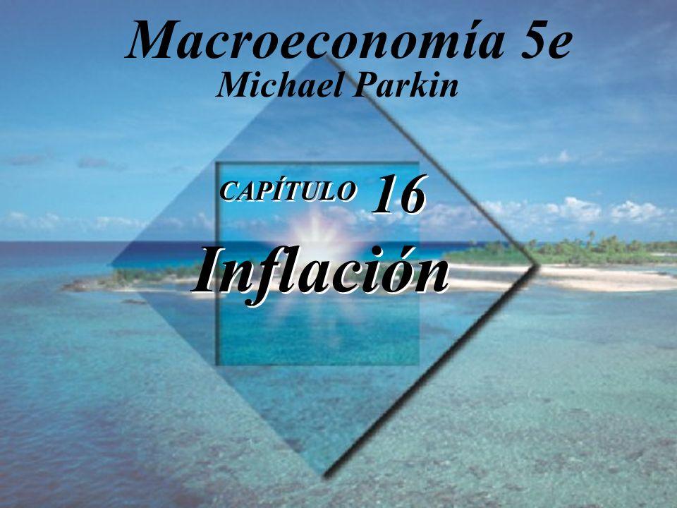 Diapositiva 16-1 Copyright © 2000 Pearson Educación. CAPÍTULO 16 Inflación Michael Parkin Macroeconomía 5e