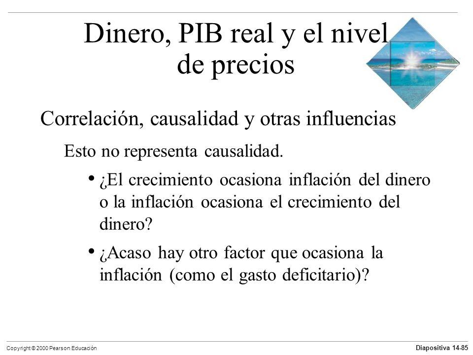 Diapositiva 14-85 Copyright © 2000 Pearson Educación Correlación, causalidad y otras influencias Esto no representa causalidad. ¿El crecimiento ocasio