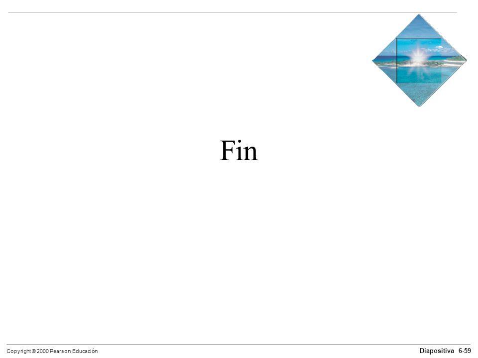 Diapositiva 6-59 Copyright © 2000 Pearson Educación Fin