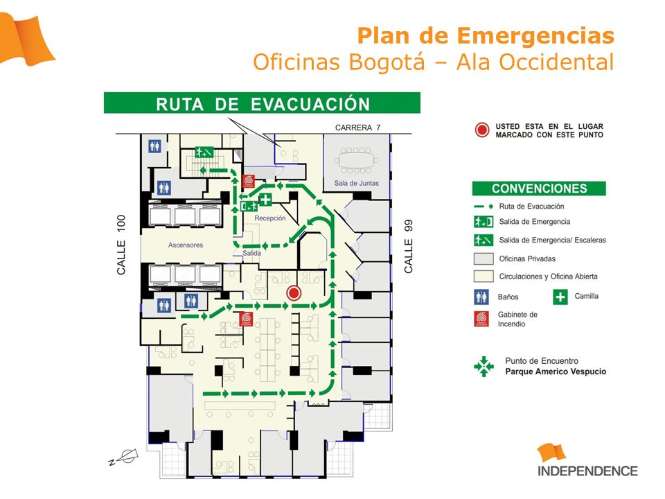 Plan de Emergencias Oficinas Bogotá – Ala Occidental