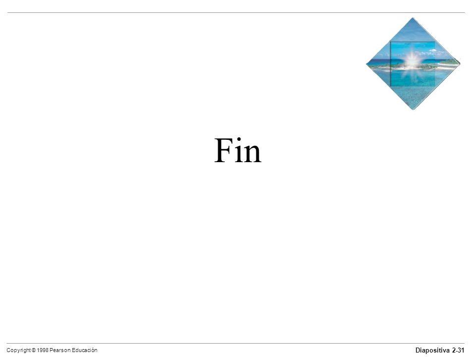 Diapositiva 2-31 Copyright © 1998 Pearson Educación Fin