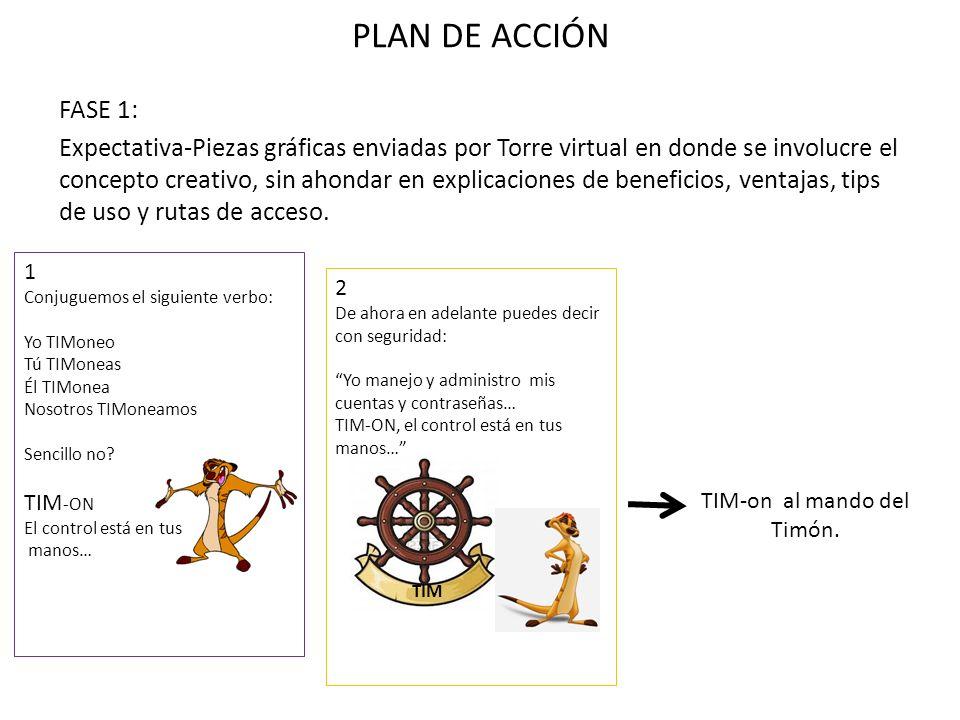 PLAN DE ACCIÓN FASE 1: Expectativa-Piezas gráficas enviadas por Torre virtual en donde se involucre el concepto creativo, sin ahondar en explicaciones