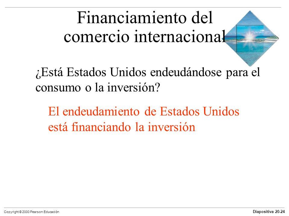 Diapositiva 20-24 Copyright © 2000 Pearson Educación ¿Está Estados Unidos endeudándose para el consumo o la inversión? El endeudamiento de Estados Uni
