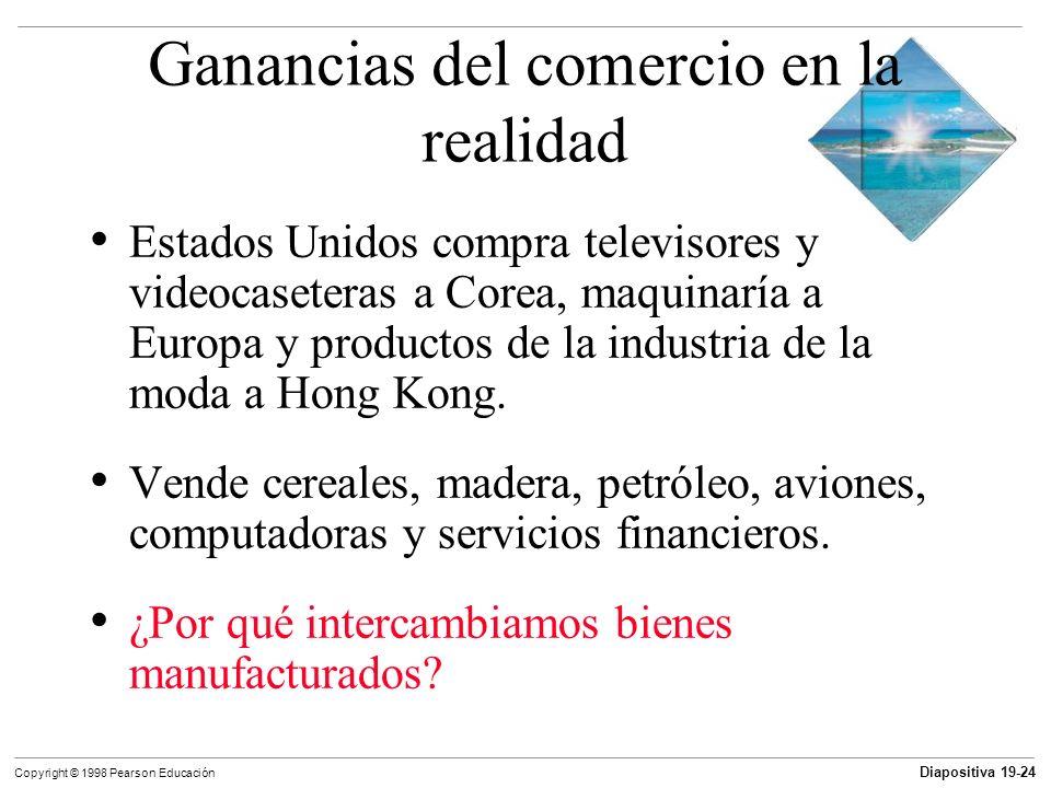 Diapositiva 19-25 Copyright © 1998 Pearson Educación Diversidad de gustos y economías de escala Debido a la gran diversidad de gustos, la gente valora la diversidad y está dispuesta a pagar por ella.