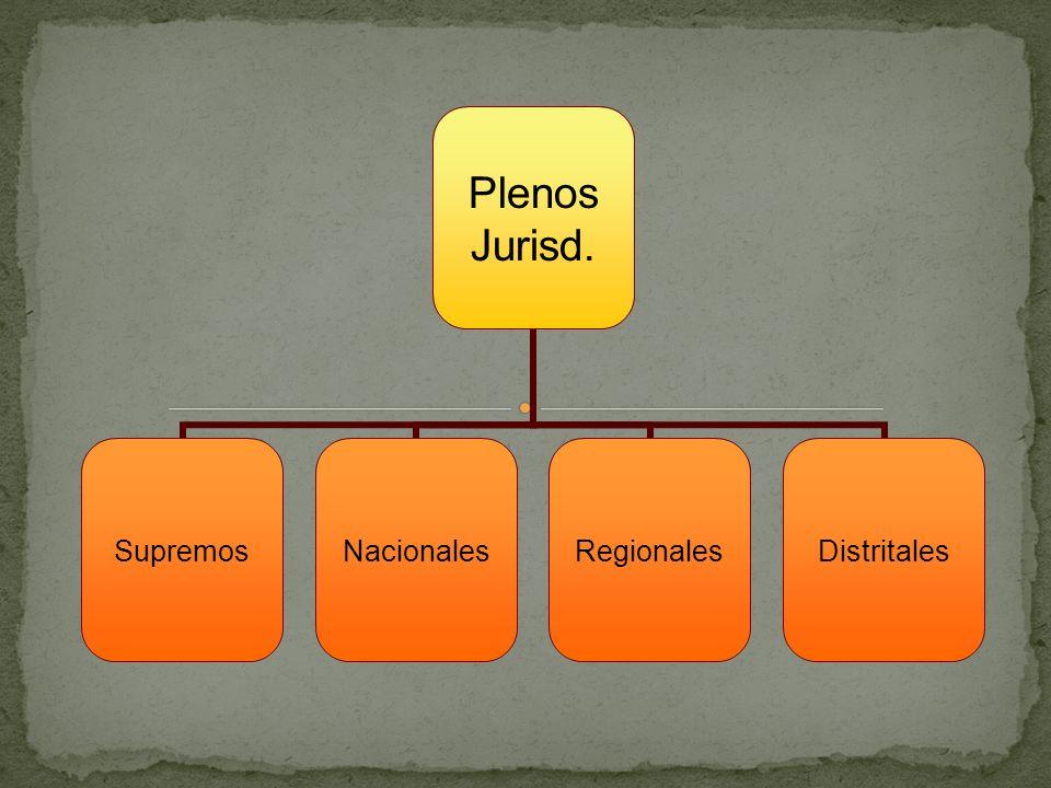 Plenos Jurisd. SupremosNacionalesRegionalesDistritales