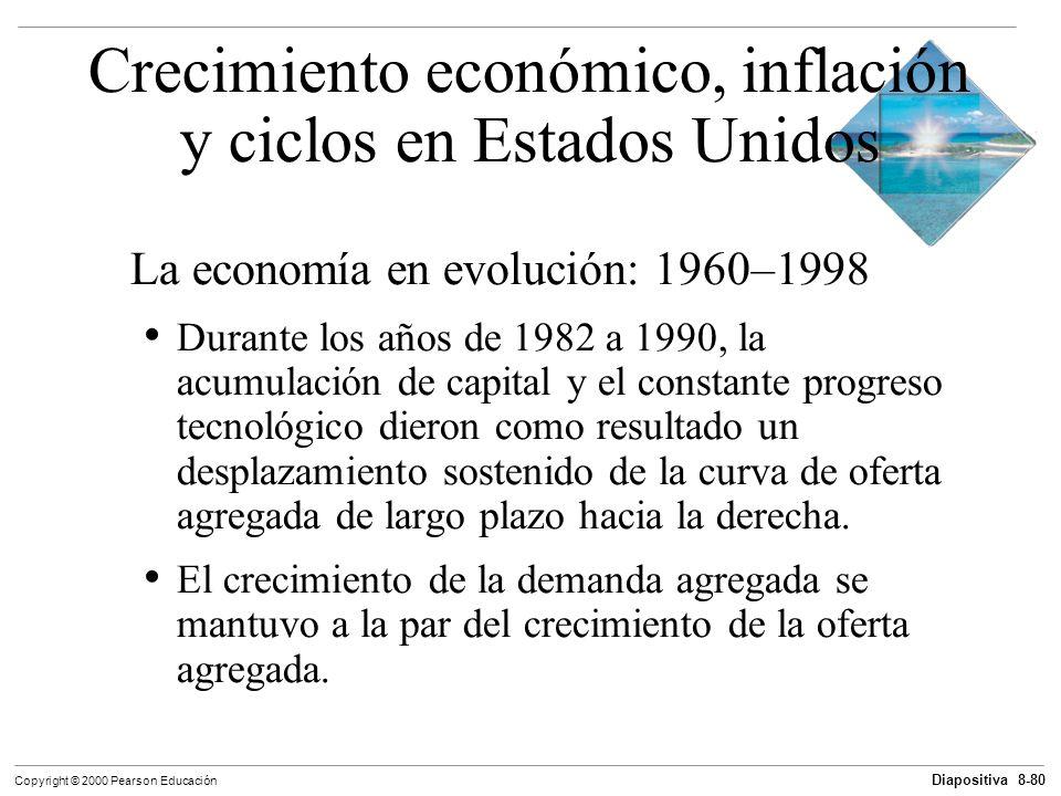 Diapositiva 8-80 Copyright © 2000 Pearson Educación La economía en evolución: 1960–1998 Durante los años de 1982 a 1990, la acumulación de capital y e