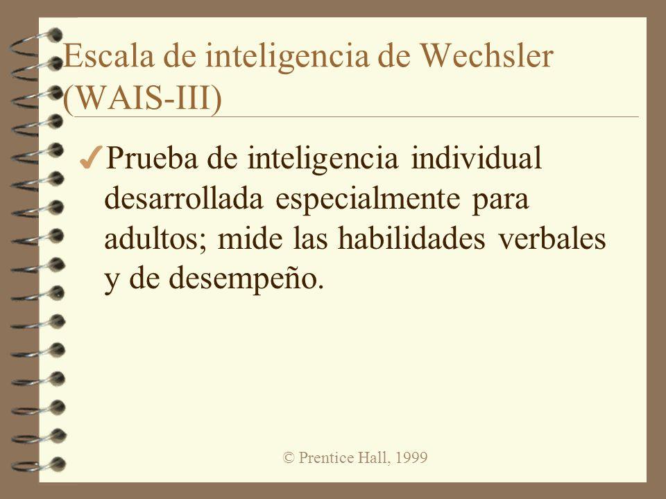 © Prentice Hall, 1999 Distribución de resultados del CI