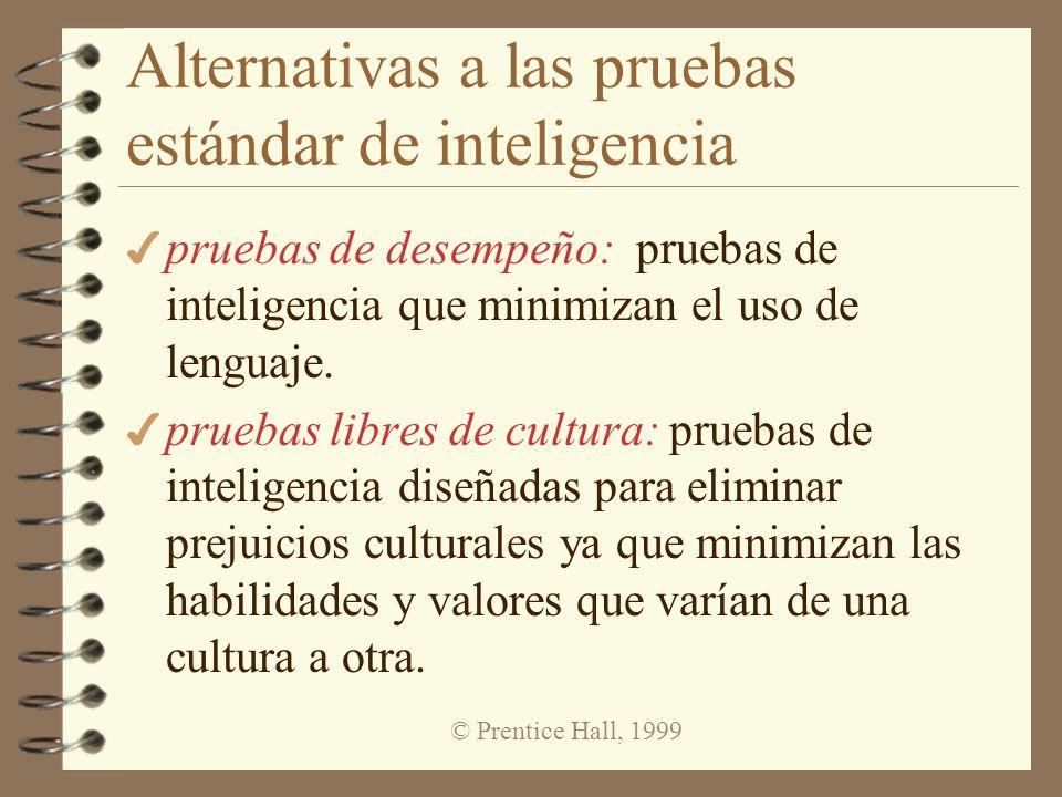 © Prentice Hall, 1999 Confiabilidad 4 confiabilidad: Habilidad de una prueba para producir resultados consistentes y estables.