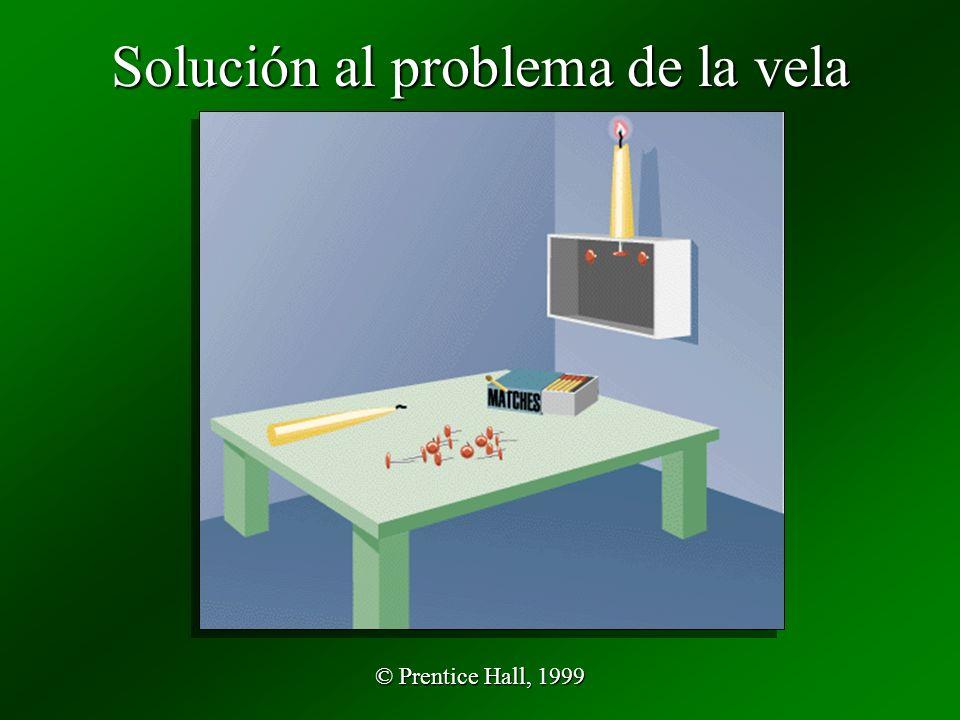 © Prentice Hall, 1999 Solución al problema de la vela