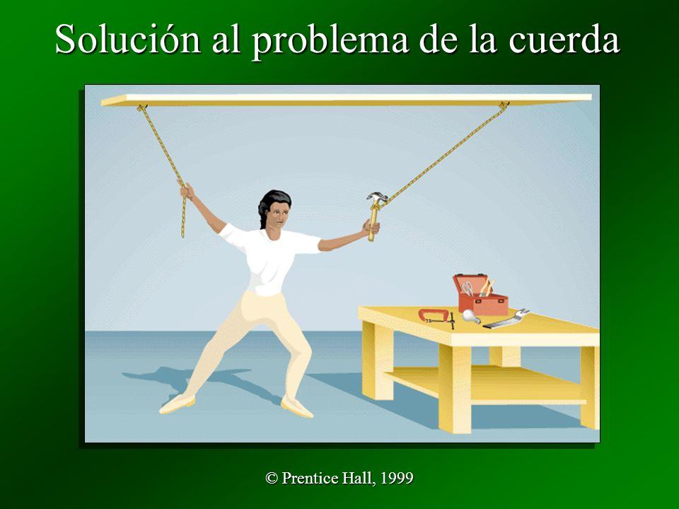© Prentice Hall, 1999 Solución al problema de la cuerda