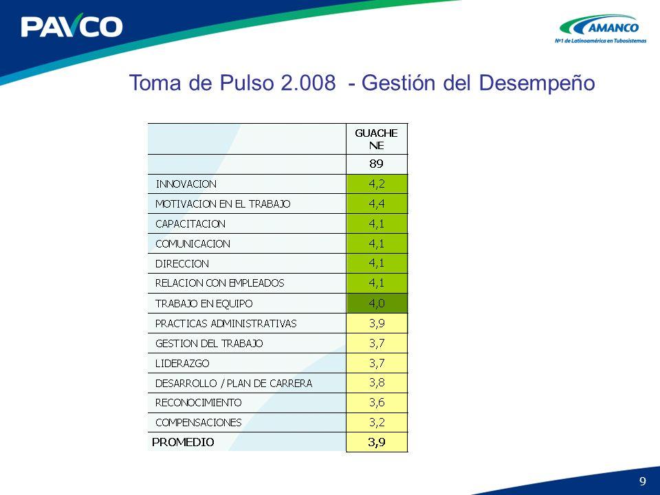 9 Toma de Pulso 2.008 - Gestión del Desempeño