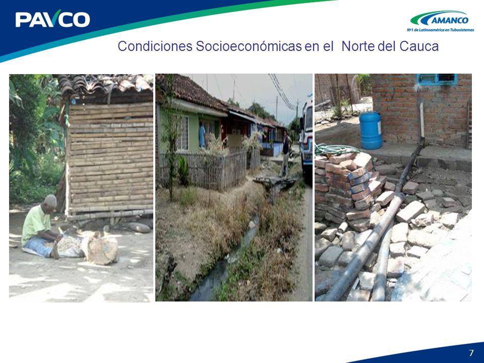 7 Condiciones Socioeconómicas en el Norte del Cauca