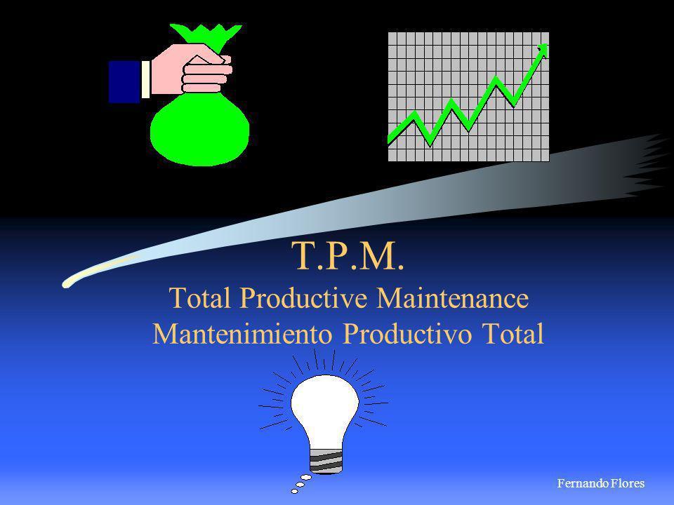 Definición: Es el involucramiento total de los empleados, enfoque de Calidad(World Class) y técnicas óptimas de Mantenimiento para aumentar la eficiencia de los equipos y por lo tanto mejorar la Calidad del producto.