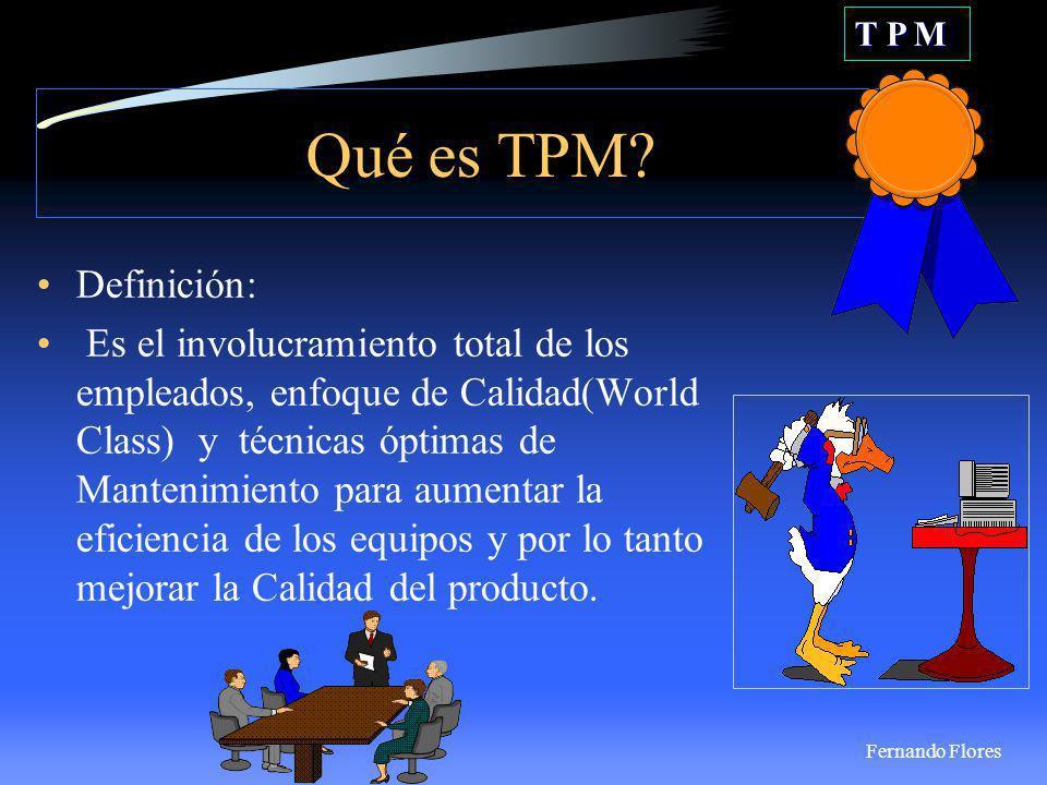 T P M Cuál es la clave para obtener un producto de Clase Mundial.