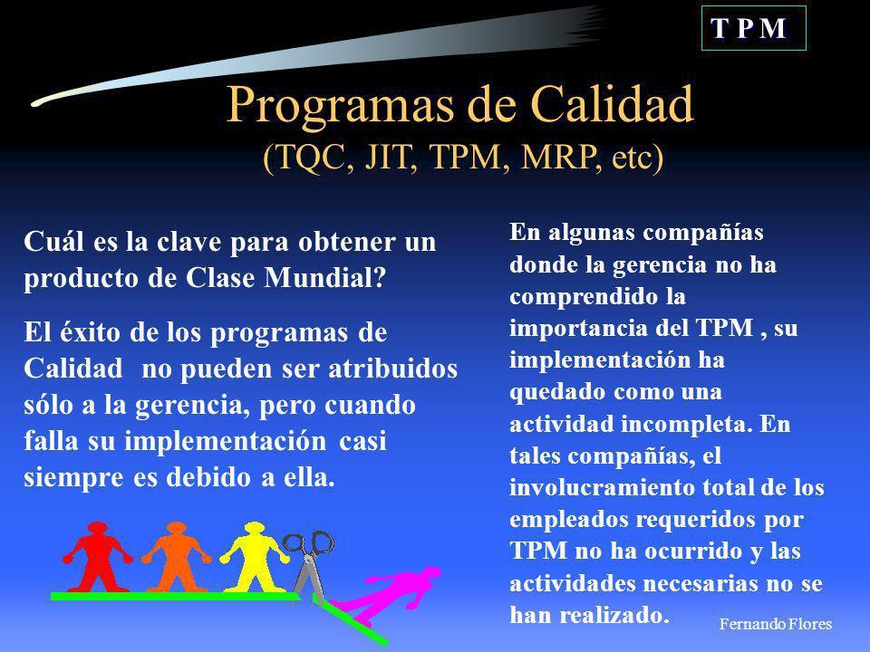 TPM es una Evolución, no una Revolución.T P M El cliente inspecciona al recibir.