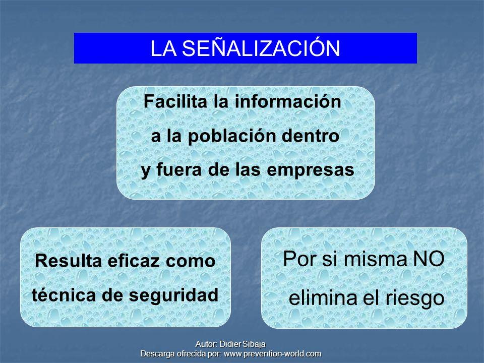 Autor: Didier Sibaja Descarga ofrecida por: www.prevention-world.com Algunas señales