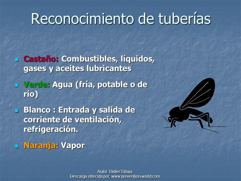Autor: Didier Sibaja Descarga ofrecida por: www.prevention-world.com Reconocimiento de tuberías Castaño: Combustibles, líquidos, gases y aceites lubri