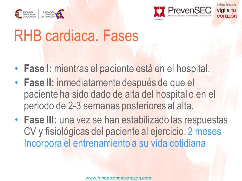 www.fundaciondelcorazon.com Fase I: mientras el paciente está en el hospital. Fase II: inmediatamente después de que el paciente ha sido dado de alta