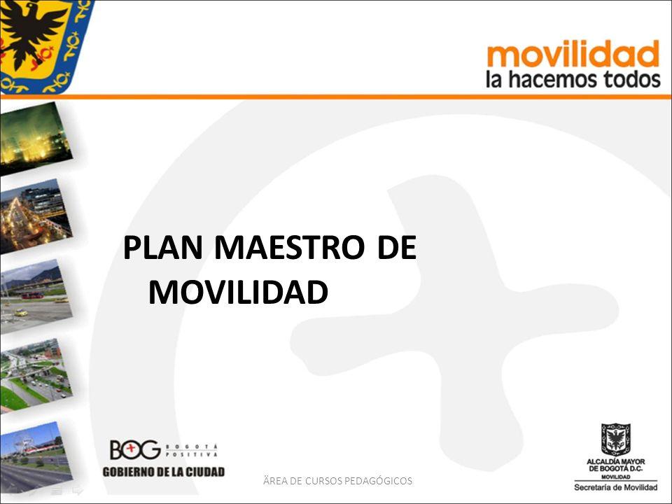 ÄREA DE CURSOS PEDAGÓGICOS El Plan Maestro de Movilidad fué adoptado por: Decreto No.