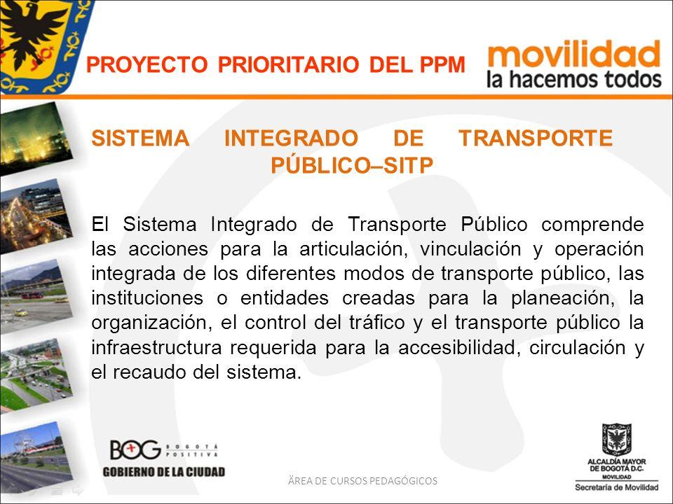 SISTEMA INTEGRADO DE TRANSPORTE PÚBLICO–SITP El Sistema Integrado de Transporte Público comprende las acciones para la articulación, vinculación y ope