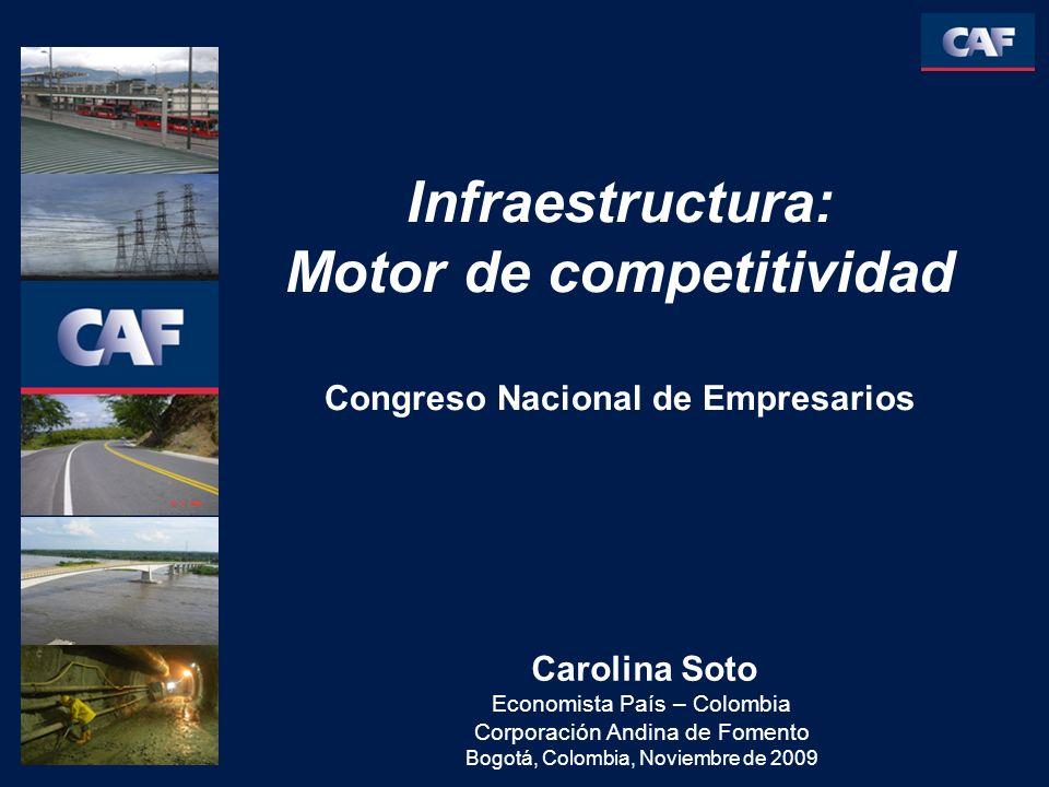 Carolina Soto Economista País – Colombia Corporación Andina de Fomento Bogotá, Colombia, Noviembre de 2009 Infraestructura: Motor de competitividad Congreso Nacional de Empresarios