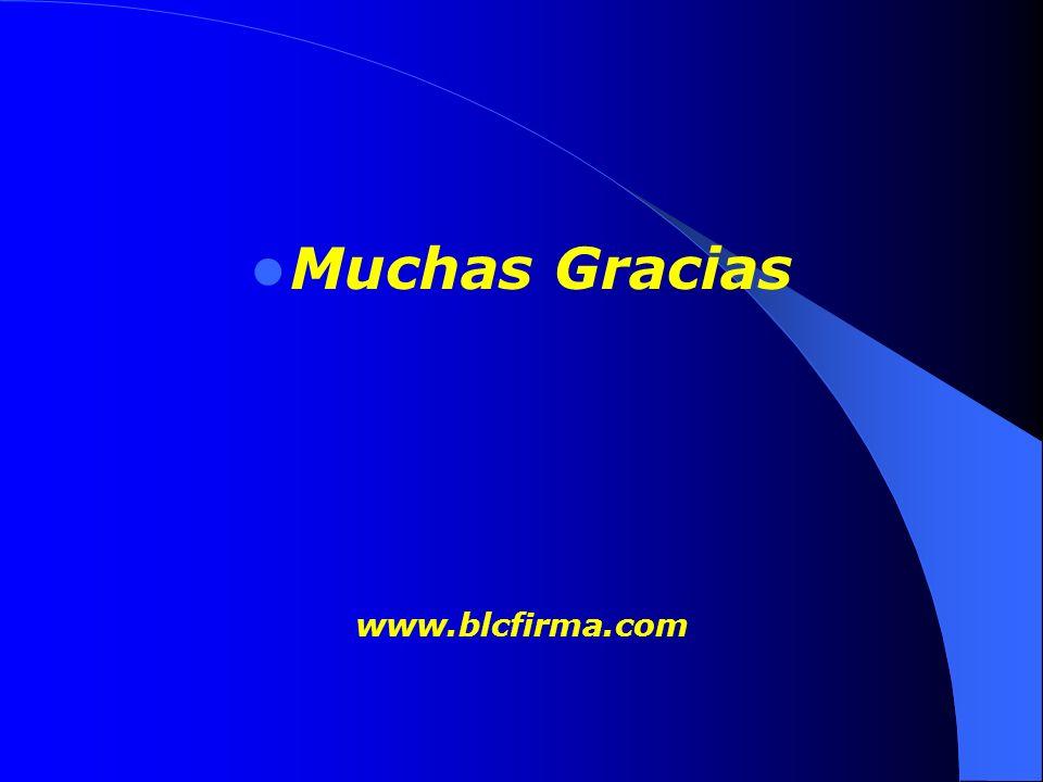 Muchas Gracias www.blcfirma.com