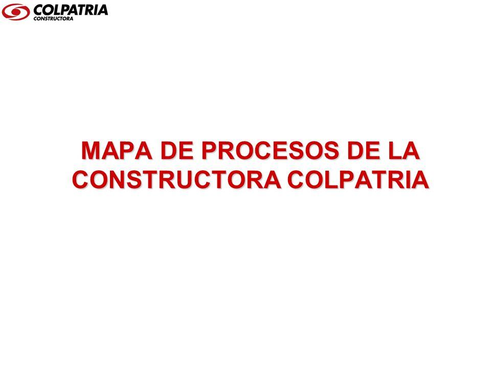 MAPA DE PROCESOS DE LA CONSTRUCTORA COLPATRIA