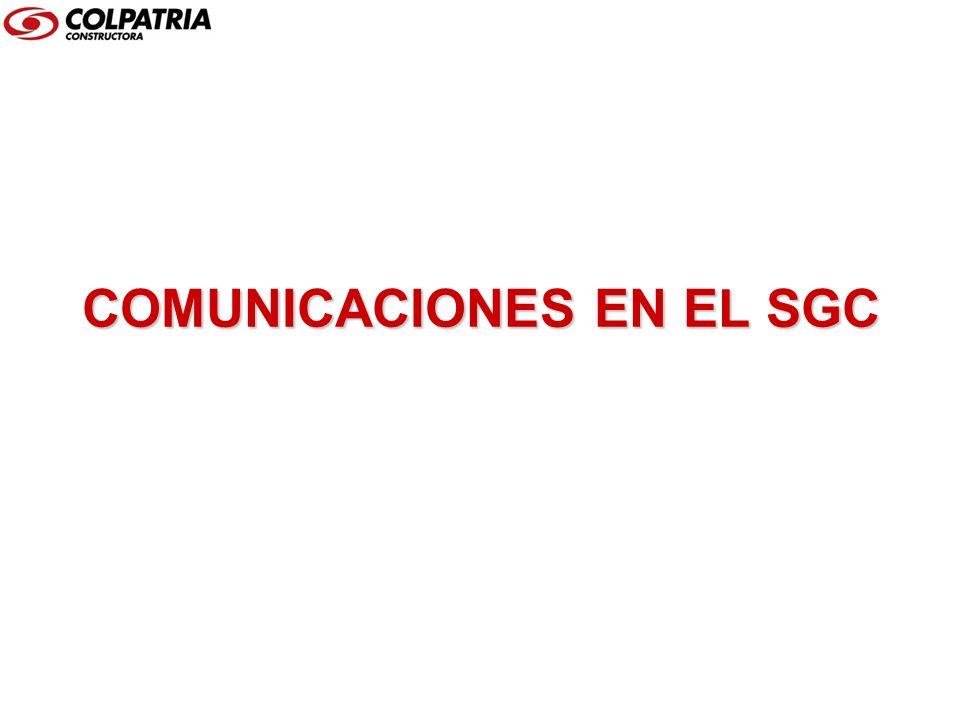 COMUNICACIONES EN EL SGC