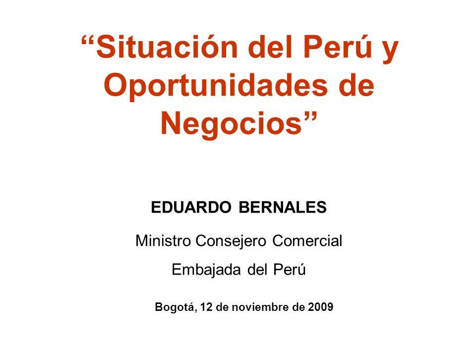 Crecimiento de la IED Durante el 2007 los flujos de IED se incrementaron en 54% Fuente: Banco Central de Reserva del Perú, ProInversión.
