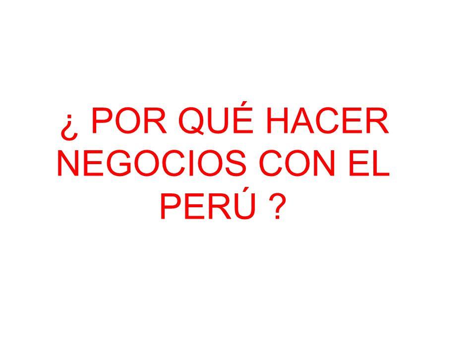 ¿Por qué hacer negocios con en el Perú.