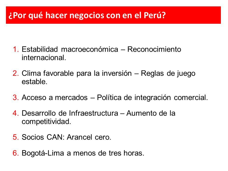 ¿Y las inversiones peruanas en Colombia?