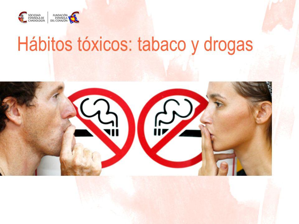 Hábitos tóxicos: tabaco y drogas