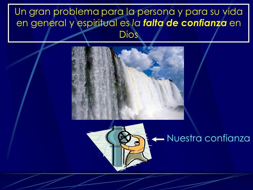 Un gran problema para la persona y para su vida en general y espiritual es la falta de confianza en Dios Nuestra confianza