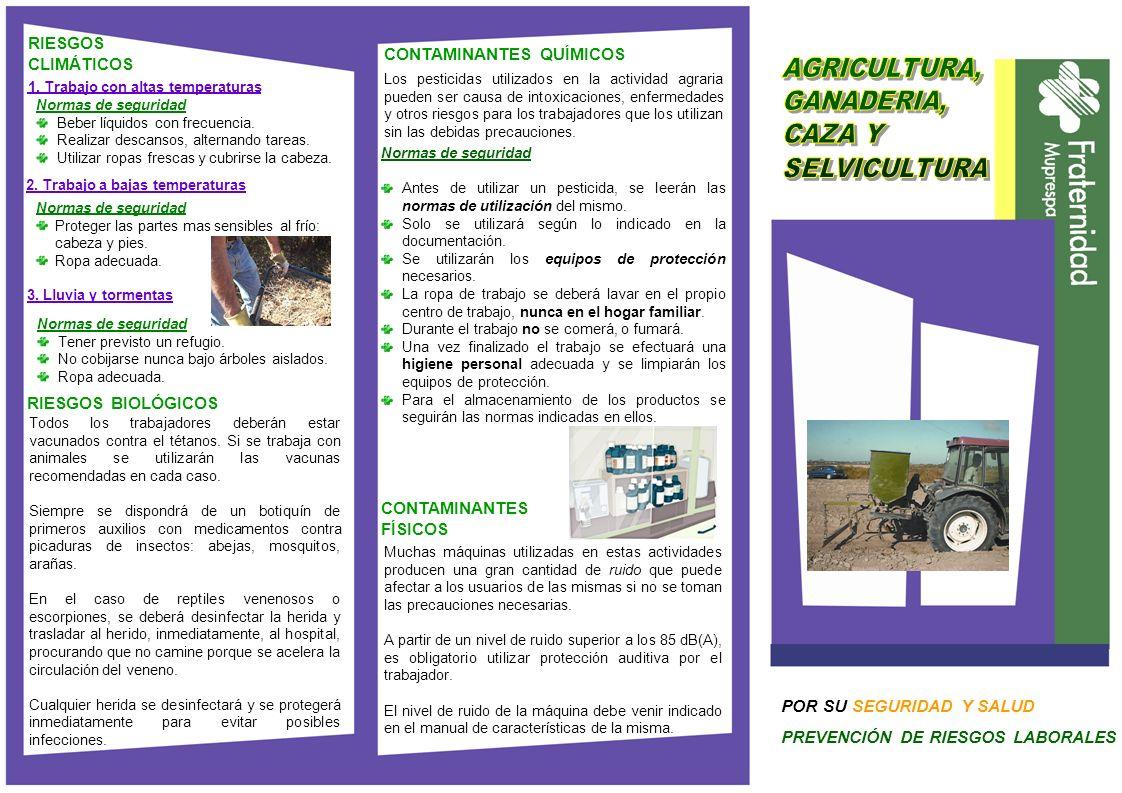 Normas de seguridad Antes de utilizar un pesticida, se leerán las normas de utilización del mismo. Solo se utilizará según lo indicado en la documenta