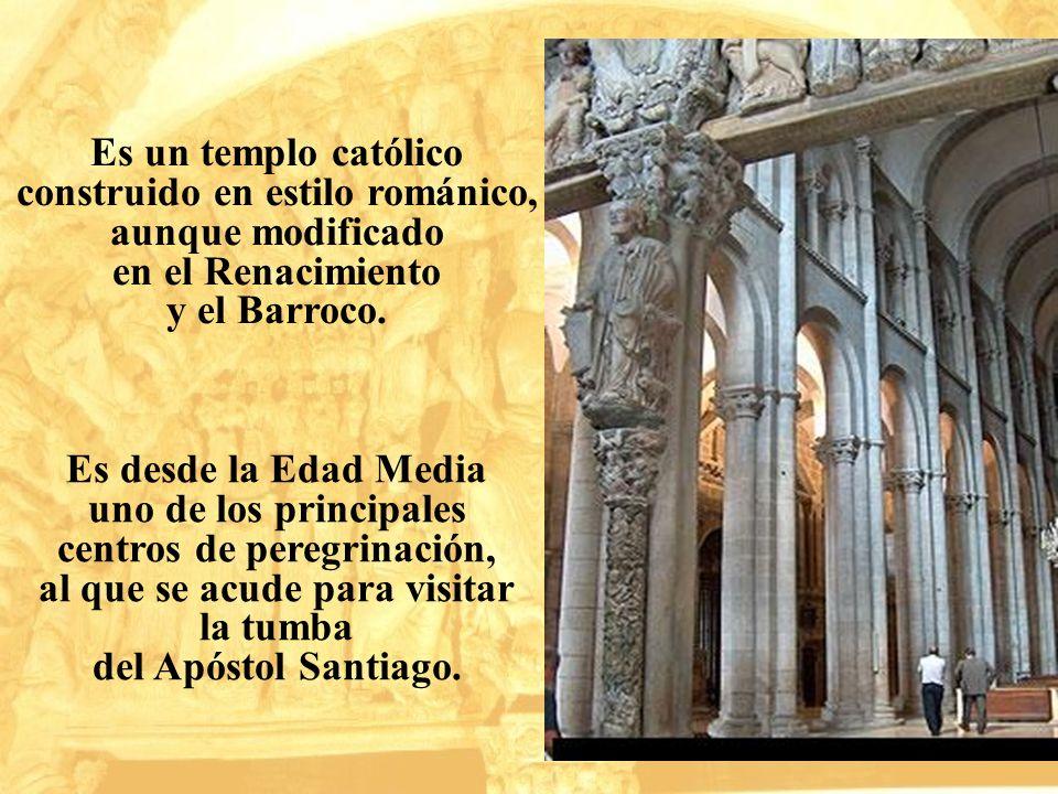Es desde la Edad Media uno de los principales centros de peregrinación, al que se acude para visitar la tumba del Apóstol Santiago. Es un templo catól