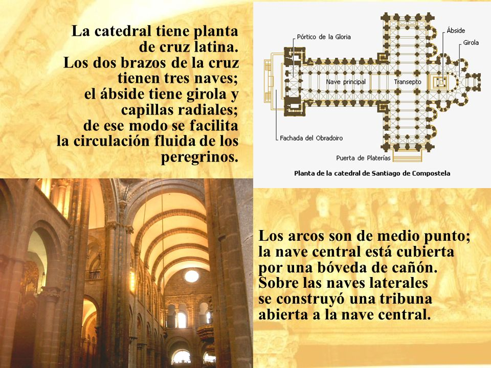 La catedral tiene planta de cruz latina. Los dos brazos de la cruz tienen tres naves; el ábside tiene girola y capillas radiales; de ese modo se facil